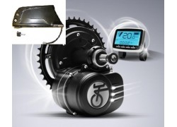 Středový motor TCD 350W 36V vybavený torzním snímačem s akumulátorem do rámu 13,2Ah 36V
