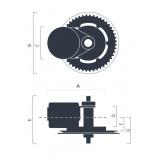 Středový motor BBSHD 1000W 160Nm + Akumulátor 13,4Ah 48V