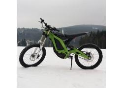 Elektrická motorka cross enduro výkon 5000W aku 60V 32Ah Li-ion, max 73km/h max 200Nm hmotnost 50kg
