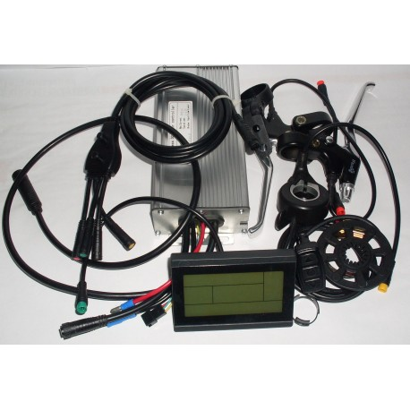 LCD Sada elekrické výbavy 1000W 48V přední pro elektrokola