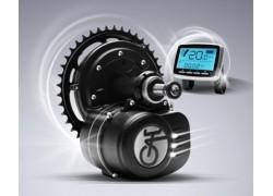 Středový pohon 36V na elektrokolo 350W (570Wn), torzní snímač momentu, LCD displej, neblokovaný